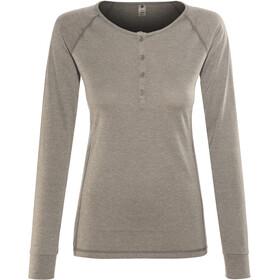 Black Diamond Attitude T-shirt manches longues à col tunisien Femme, slate